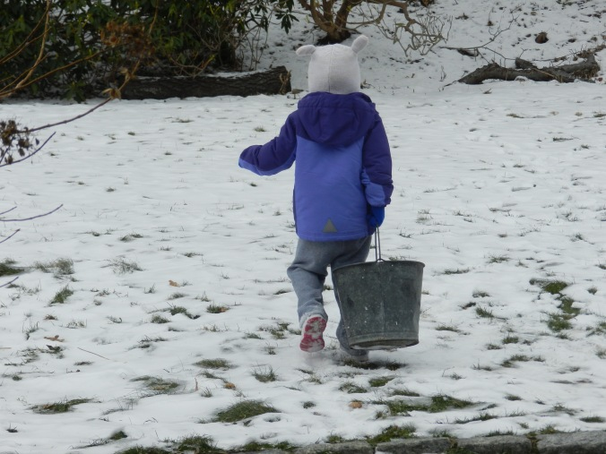 Girl and Bucket, winter edition