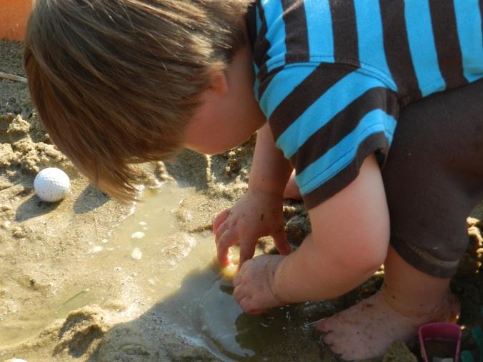 sandbox puddle