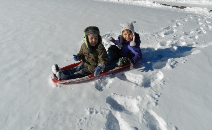 first sled ride!