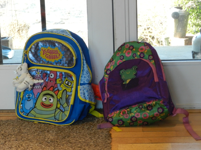 TWO backpacks by the door!