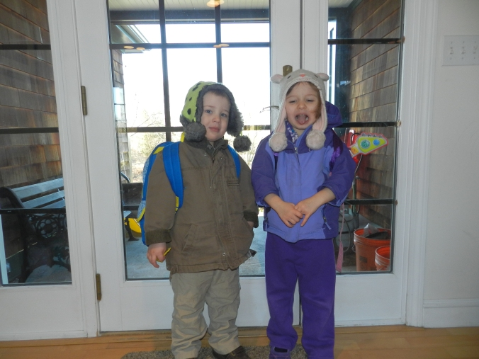 TWO kids, off to SCHOOL!