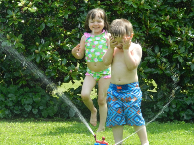 sprinkler day!