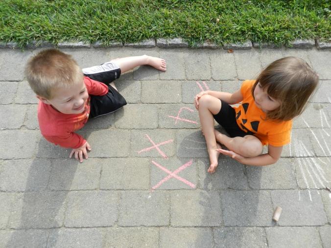 x, in chalk