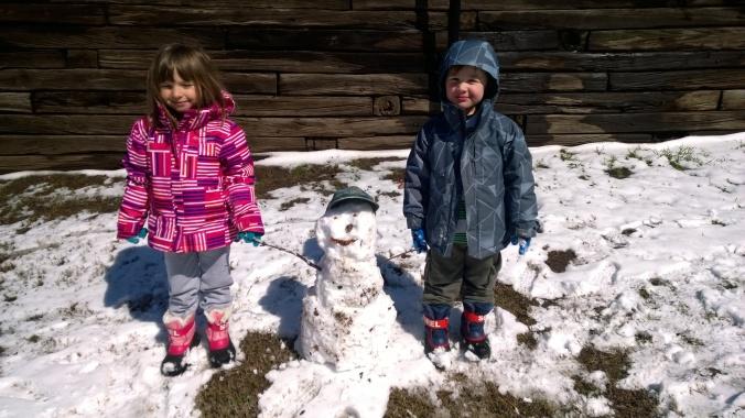 Our First Texas Snowman